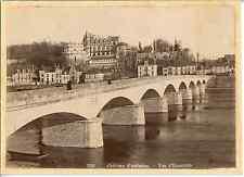 France, Château d' Amboise, vue d'ensemble  Vintage albumen print.