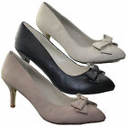 WOMENS LADIES LOW MID HEEL CONCEALED PLATFORM WORK COURT SHOES PARTY SHOES