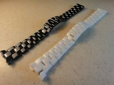 New Ceramic white strap bracelet band compatible with Chanel J12 watch men 19mm