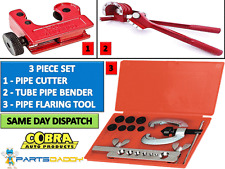 METRIC BRAKE PIPE FLARING KIT FUEL REPAIR TOOL SET WITH AND TUBE BENDER + CUTTER