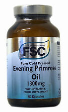 FSC Pure Cold Pressed Evening Primrose Oil 1300mg With Vitamin E 60 Capsules