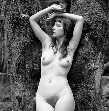 8 x 10 Fine Art NUDE print female model naked Black & White photograph. Signed!!