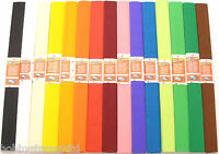 Coloured Crepe Paper Roll Sheets Coloured Craft Paper Florist Paper 2.50 x 0.5m