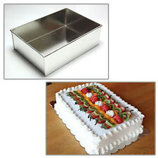 "Single Rectangle 8"" Wedding Birthday Christmas cake tins - cake pans"