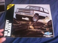 1982 Chevrolet Chevy Blazer 4X4 Color Brochure Catalog PROSPEKT