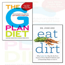 Eat Dirt By Dr Josh Axe 2 Books Collection Pack Set The G Plan Diet NEW BRAND UK