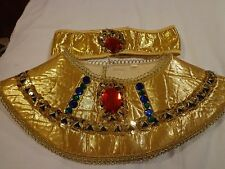 Kids Egyptian or Cleopatra Collar and Headband Halloween Theater Costume Dress