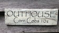 Hand Made..OUTHOUSE... -Primitive Rustic Country Home Decor
