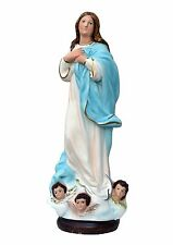 Virgin Mary assumption by Murillo resin statue cm. 40