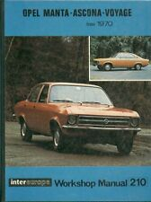 OPEL MANTA A COUPE 1.6 & 1.9 LITRE 1970 - OWNERS WORKSHOP MANUAL * VGC *