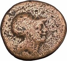 SYRACUSE in SICILY  212BC Nike Sacrifices Bull Athena Cult Greek Coin i48411