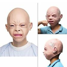 Creepy Halloween Prop Cry Baby Full Head Latex Rubber Masquerade Mask Party Face