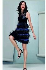 BNWT �� Coast ��Size 6 Izzy Feather Leather Lace Evening Prom Dress XS RRP £250