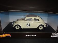 Hot Wheels Herbie The Love Bug Volkswagen Beetle 1962 #53 Cream White 1/18