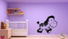 Wall Sticker For Kids Baby Zebra Modern  Cool Decor for Nursery Room z1401