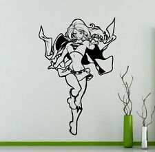 Supergirl Wallsticker Wallpaper Wand Schmuck 50 x 76 cm Wandtattoo