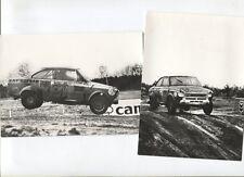 N°7907 /  2 photos constructeurs Coupé DAF 55   rallye cross 1970-1971