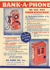 1948 PAPER AD Toy Bank A Phone Play Pay Pone Wa It DuKane Co