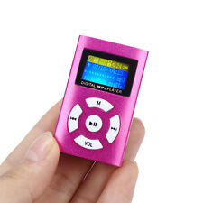 Discount USB Mini MP3 Player LCD Screen Support 32GB Micro SD TF Card Red UK