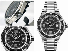 GUESS COLLECTION $700 SWISS MADE GC Mens Watch Black Steel Date X79004G2S 70