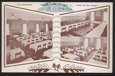 Postcard WHITING Indiana/IN  Vogel's Restaurant Interior Tri-view