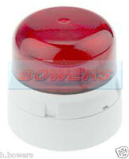 KLAXON QBS-0052 FLASHGUARD 12V/24V 3W TWO 2 BOLT/PIN XENON STROBE RED BEACON
