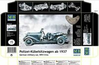 POLIZEI-KUEBELSITZWAGEN AB 1937 GERMAN MILITARY CAR  1/35 MASTER BOX 35101 DE