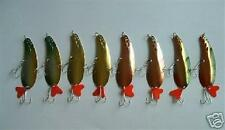 """8 NEW Assorted Spoon Metal Fishing Lure Bait Lot 4"""""""