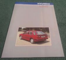1986 1987 RGA Richard Grant HYUNDAI PONY STELLAR PICKUP BODYSTYLING UK BROCHURE
