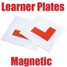 Magnetic L Plates x 2 Plastic Car Motorcycle Learner New Driver Front & Back