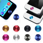 New 5pcs Aluminium Metal Round Home Button Sticker For iPhone 4 4S 5s 5c 5 ipad