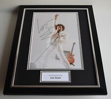 Leo Sayer SIGNED FRAMED Photo Autograph 16x12 display Music Singer AFTAL COA