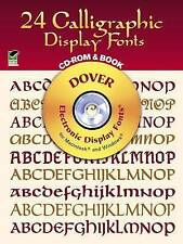 """NEW """"24 Calligraphic Display Fonts: Electronic Display Fonts for Mac & Windows"""""""