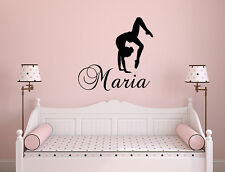 Girl Name Decal Gymnastics Wall Decal Nursery Vinyl Sticker Dance Studio NA200