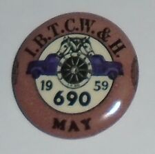 1959 LABOR UNION pin TEAMSTERS pinback IBTCW&H Truck TRUCKING Horse logo