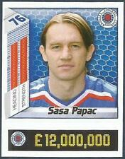 PANINI SCOTTISH PREMIER LEAGUE 2008- #376-RANGERS-SASA PAPAC