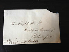 ROBERT WILMOT HORTON - COLONIAL GOVERNOR & POLITICIAN - SIGNED ENVELOPE FRONT