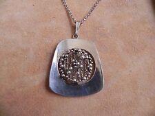 """Kollmar & Jourdan Sterling Silver .925 Modernist look Pendant & Necklace 32"""""""