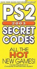 PS2 Secret Codes 2003 by BradyGames Staff (2002, Paperback)