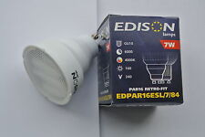 Edison GU10 PAR16 STANDARD 54mm LENGTH cool white 4000k 7w CFL low energy bulb