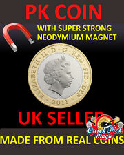 SUPER STRONG MAGNETIC £2 - TWO POUND MAGNETIC - MAGIC TRICK COIN