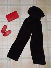 Vintage Toni OR Vogue Jill OR Ideal Tammy Black Velvet Pantsuit w/ Purse & Shoes