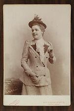 Germaine Gallois, Actrice et chanteuse d'opérette Cabinet card Photo Nadar