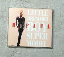 "CD AUDIO INT / RUPAUL ""LITTLE DRUMMER BOY / SUPERMODEL"" 1993 CDS 4T TOMMY BOY"