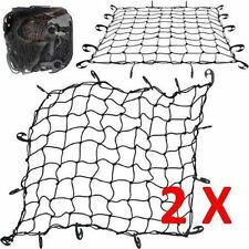 LARGE CARGO NET CAR VAN TRUCK TRAILER 12 HOOKS BUNGEE CORD ATV RACKS NETS x 2