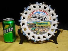 South Dakota Lace Edged Souvenir Wall Plate