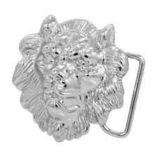 Silver Roaring Lion Head Belt Buckle�Zinc Alloy�African Rasta Unique Sn