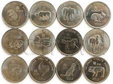 SOMALILAND 12 COINS SET 2012 CHINESE HOROSCOPE UNC (#582)