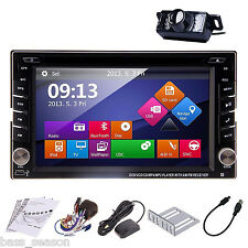 "Car DVD CD Player 6.2"" 2DIN In Dash GPS Navigation+Map TV+BT+Radio Stereo+Camera"