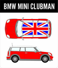 BMW Mini Clubman Union Jack Roof Decal Kit Cooper Racing Vinyl Graphics NEW